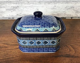 Polish Pottery Aztec Container