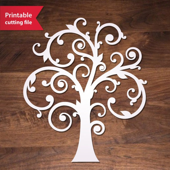 Laser Cut Tree Template Svg Die Cut Tree Vector For