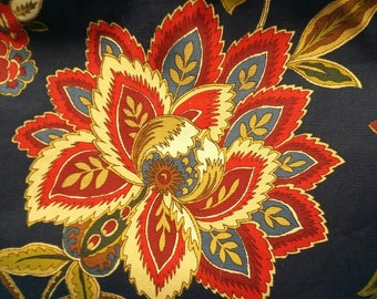 Very nice Navy blue with Red, Green and Beige Paisley.