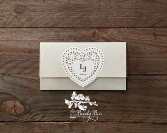 Wedding Invitation | Custom invitations | Unique invitations | Wedding stationery | Elegant invites -Letters of love