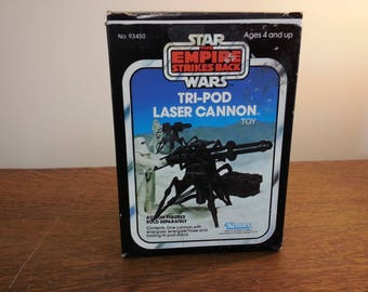 Vintage Star Wars Tri-Pod Laser Cannon toy - Complete with box