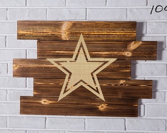 Dallas Cowboys Wood Sign Dallas Cowboys Wall art Dallas Cowboys Gift Dallas Cowboys Birthday Dallas Cowboys Party wooden