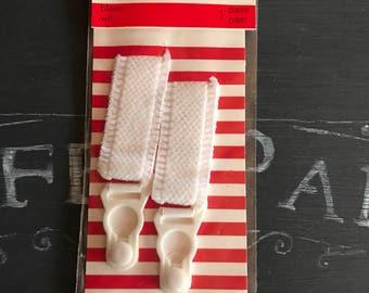 Vintage White Stocking Suspenders Pair