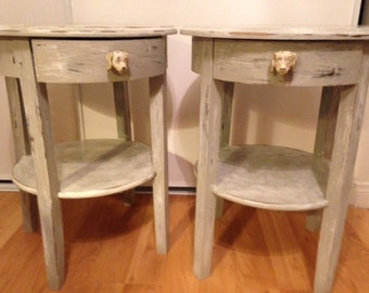 SHIPS FREE!! Cottage Chic end/side tables, living room, bedroom, entry.
