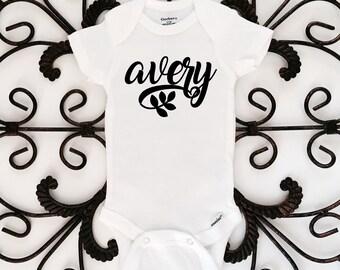 Baby Name Onesie, Custom Onesie, Personalized Onesie, Baby clothing