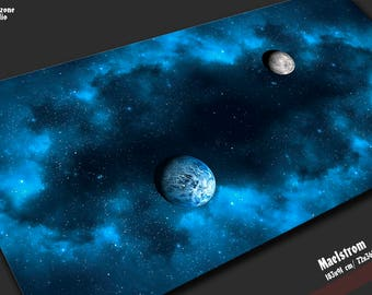 Battle mat:  Maelstrom -  space scenery playmat for sci-fi miniature board games Star Wars X-wing, Armada,  BFG Gothic  cosmic wargames