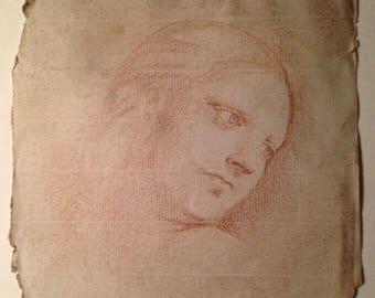 Unique Old Master renaissance drawing Circle of Leonardo da Vinci (1452 -1519)