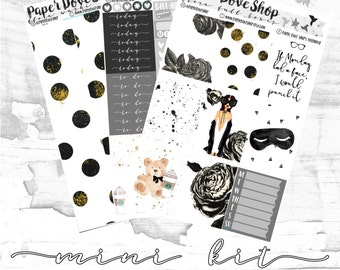 Flora Mini Kit-- ECLP Vertical Kit, Decorative Stickers, Planner Stickers, Floral/Blogger Kit