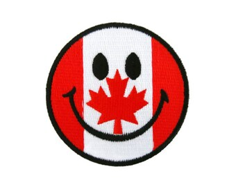 Canadian smiley patch