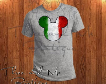 Italian Flag Inspired Mouse Ears; Mickey Mouse Inspired Italy Ears
