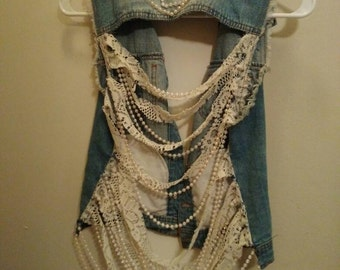 Customized Jean Jacket Vest