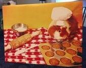 Tiny Baker Guinea Pig Greeting Card