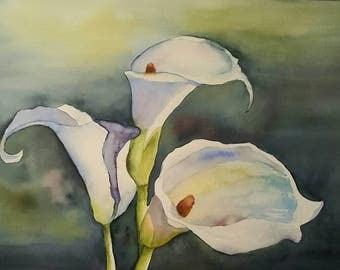 Calla Lilies Greeting Card
