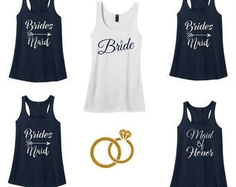 Bridesmaid tank tops.Bridesmaids tanks.Bachelorette Party. Bachelorette Tanks.