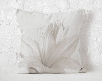 Pillow cover Pillow case WHITE LILY