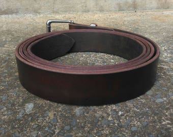 """Extra Long (Up to 65"""") Leather Belts w Stainless Steel Buckle"""