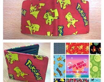 pokemon, men's wallet 12 patterns available