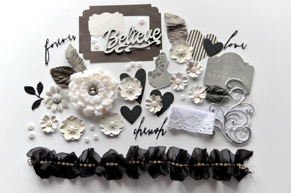 scrapbooking kit handmade flowers