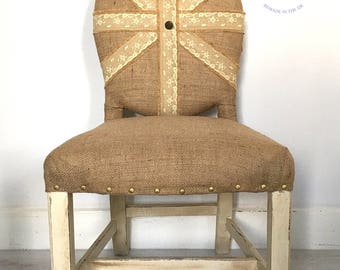 Vintage occasional chair. Dining room chair. Bedroom chair. Reupholstered chair. Upcycled furniture. Upcycled chair. Seating.