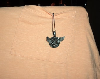 eagle necklace pewter