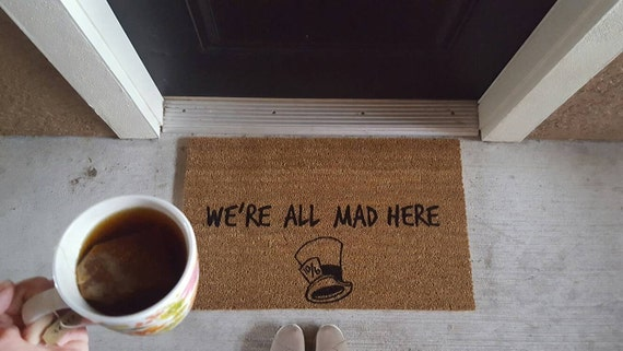 we're all mad here alice in wonderland the mad hatter