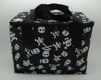 Skull and Cross bones insulated lunch bag