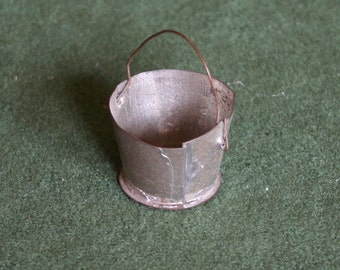 "Tiny Metal ""Galvanized"" Bucket"