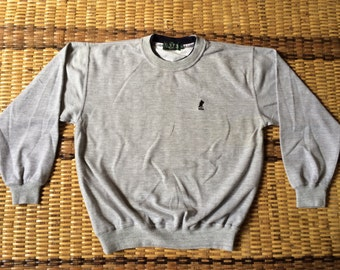 Vintage 90's US Polo Association Classic Design Skate Sweat Shirt Sweater Varsity Jacket Size M #A598