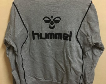 Vintage 90's Hummel Sport Classic Design Skate Sweat Shirt Sweater Varsity Jacket Size L #A642