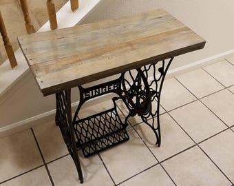 Vintage Singer Sewing Table