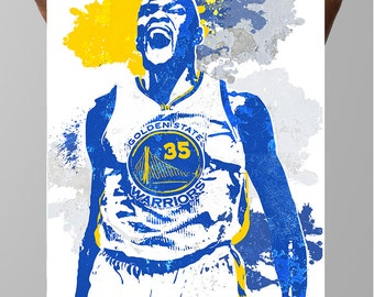 Fan art poster, Kevin Durant, Golden State Warriors, MVP, Sports Posters, Sports art,