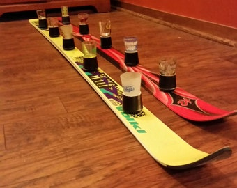 5-person Shotski with removable shot glasses for easy cleaning - fits to all standard shot glasses