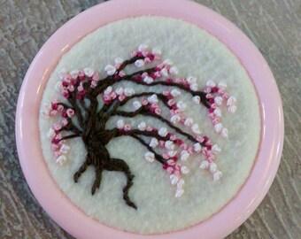 Cherry tree ornament, light pink