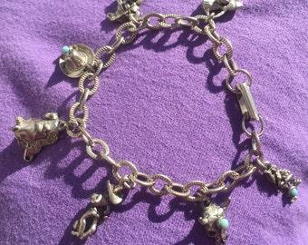 Cowboy theme charm bracelet
