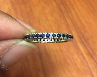 Sapphire eternity ring