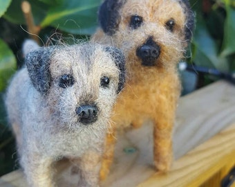 Made to order needle felted border terrier