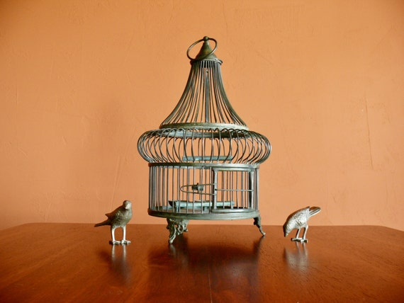 Antique Victorian Brass Bird Cage
