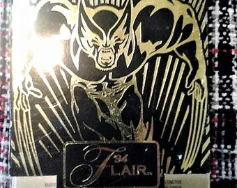 Marvel 1994 Flair cards with case//marvel cards//1994//10 cards