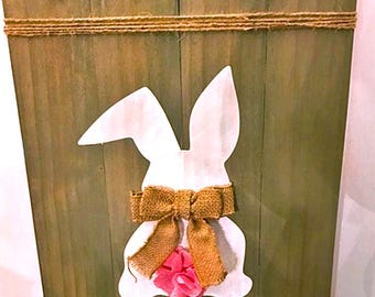 Easter Sign - Easter Wood Sign - Happy Easter Sign - Easter Decor - Spring Wood Sign - Bunny Sign - Fixer Upper Style - Sign - Spring Door