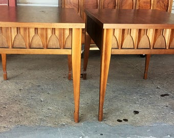 Pair of Vintage Mid Century Modern End Tables