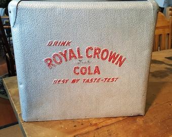 Vintage Aluminum ROYAL CROWN COLA Ice Chest Cooler