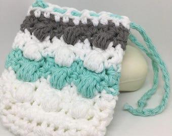 Soap saver, Massaging soap saver, Soap sock, Soap sack, Soap bag, Soap holder, Shower accessories