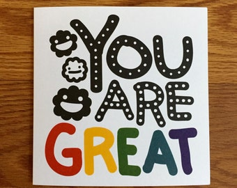 You Are Great Thank You Card