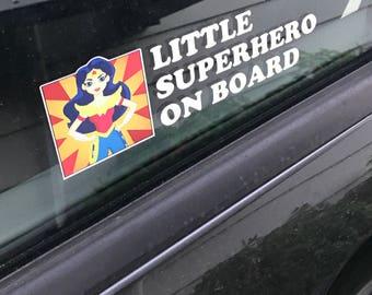 DC Superhero Girls Car Stickers - Little Superhero on Board