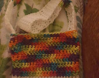 Handmade crochet cross body handbag. No paypal please