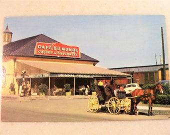 Vintage Postcard New Orleans Cafe Du Monde