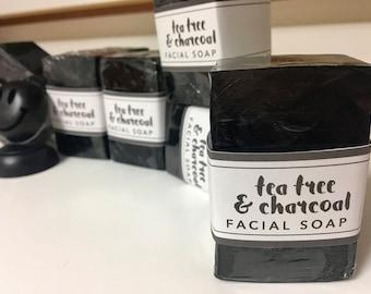 Tea Tree & Charcoal Facial Soap