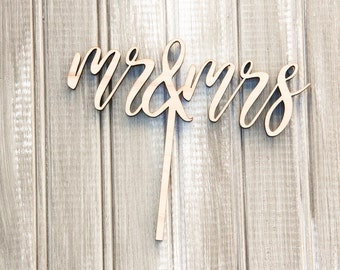 Mr. and Mrs. Wedding Cake Topper | Customized Wedding Topper