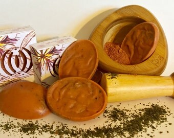 Moroccan Red Clay Soap, Nettle soap, Acne soap, soap for oily skin, aging skin soap