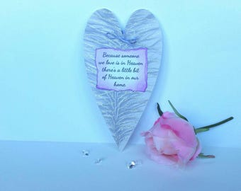 Because someone we love, memorial plaque, Rememberence gift, sympathy gift, infant loss, angel baby, guardian angel, pet loss, pet memorial